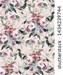 seamless summer pattern with... | Shutterstock . vector #1434239744