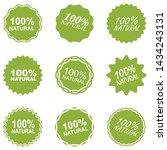 natural food logo icon set ... | Shutterstock .eps vector #1434243131