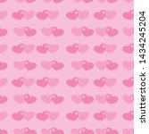 Seamless Pattern Two Hearts ...