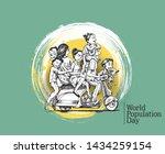 world population day  11 july ... | Shutterstock .eps vector #1434259154