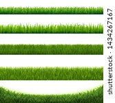green grass collection border...   Shutterstock . vector #1434267167