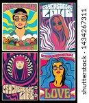 hippie girls posters... | Shutterstock .eps vector #1434267311