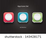 vector 3d app icons with round...