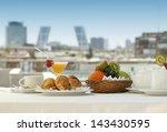 Breakfast In A Terrace Of...