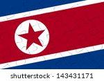 north korea nation flag jigsaw...   Shutterstock . vector #143431171