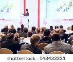 speaker on the podium. people... | Shutterstock . vector #143433331