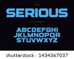 serious bold alphabet concept... | Shutterstock .eps vector #1434367037