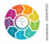 infographic process chart.... | Shutterstock .eps vector #1434379157
