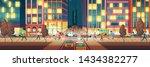 modern metropolis street at... | Shutterstock .eps vector #1434382277