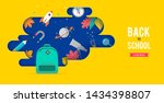 back to school  backpack with... | Shutterstock .eps vector #1434398807