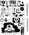 doodle set war | Shutterstock . vector #143440294