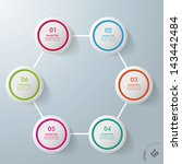 colorful infographic circles on ... | Shutterstock .eps vector #143442484