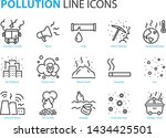 Set Of Pollution Icons  Such A...