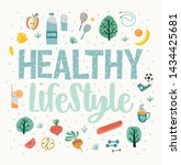 healthy lifestyle vector... | Shutterstock .eps vector #1434425681
