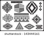 aztec vector elements set | Shutterstock .eps vector #143444161