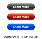 learn more button set   vector | Shutterstock .eps vector #1434458384