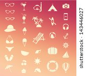 vector summer icon set | Shutterstock .eps vector #143446027