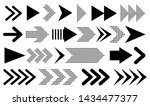set of new style black vector... | Shutterstock .eps vector #1434477377