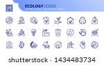 simple set of outline icons...   Shutterstock .eps vector #1434483734