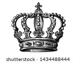 royal crown in vintage and... | Shutterstock .eps vector #1434488444