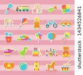 baby sticker toys. vector. kids ... | Shutterstock .eps vector #1434526841