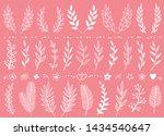 romantic set of white hand... | Shutterstock .eps vector #1434540647