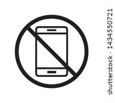 prohibition phone icon in...