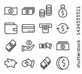 simple set of money and finance ... | Shutterstock .eps vector #1434555521