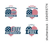 4th of july. united stated... | Shutterstock .eps vector #1434593774