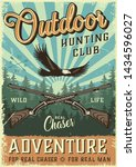 colorful hunting poster with...   Shutterstock .eps vector #1434596027