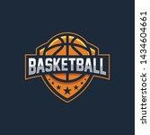 basketball logo emblem.... | Shutterstock .eps vector #1434604661