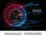 speed motion line abstract tech ... | Shutterstock . vector #1434626684