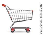 realistic empty supermarket... | Shutterstock . vector #1434626807