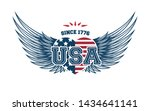 usa independence day greeting... | Shutterstock .eps vector #1434641141