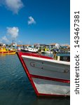 harbor in la cotiniere at... | Shutterstock . vector #143467381