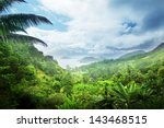 jungle of seychelles island | Shutterstock . vector #143468515
