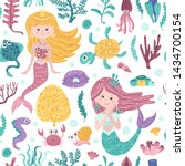 seamless pattern with cute... | Shutterstock .eps vector #1434700154