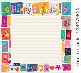 happy birthday decorative border | Shutterstock .eps vector #143470855
