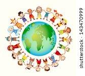 multicultural children on...