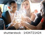 couple celebrating party in... | Shutterstock . vector #1434721424
