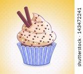 vector cute cupcake | Shutterstock .eps vector #143472241