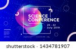 science conference wide poster... | Shutterstock .eps vector #1434781907