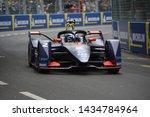 Small photo of BERNE / SWITZERLAND - JUNE 22 2019: British racing driver driver Sam Bird (Envision Virgin Racing) driving his Formula E car during the Swiss E-Prix on June 22, 2019 in Berne, Switzerland