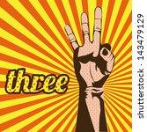 Three Number Over Grunge...