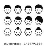 male haircuts icon set. simple...   Shutterstock .eps vector #1434791984