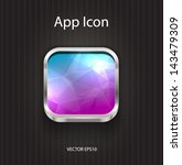 vector square app icon with... | Shutterstock .eps vector #143479309