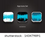 vector square app icons with...