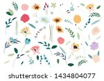 set of summer flowers. set of... | Shutterstock .eps vector #1434804077