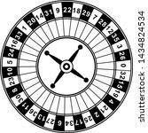 casino roulette wheel. outline... | Shutterstock .eps vector #1434824534
