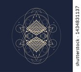 mystical geometry symbol.... | Shutterstock .eps vector #1434831137